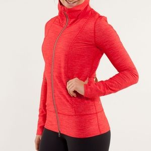 Lululemon Athletica Daily Yoga Jacket Denim Red